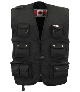 Gilet outdoor canadien, noir, lourd - Surplus militaire