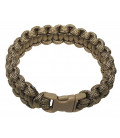 Bracelet Paracorde coyote tan, largeur 1,9 cm