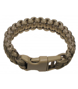 Bracelet Paracorde coyote tan, largeur 2,3 cm