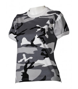 Tee-shirt US militaire femme Camouflage Urbain
