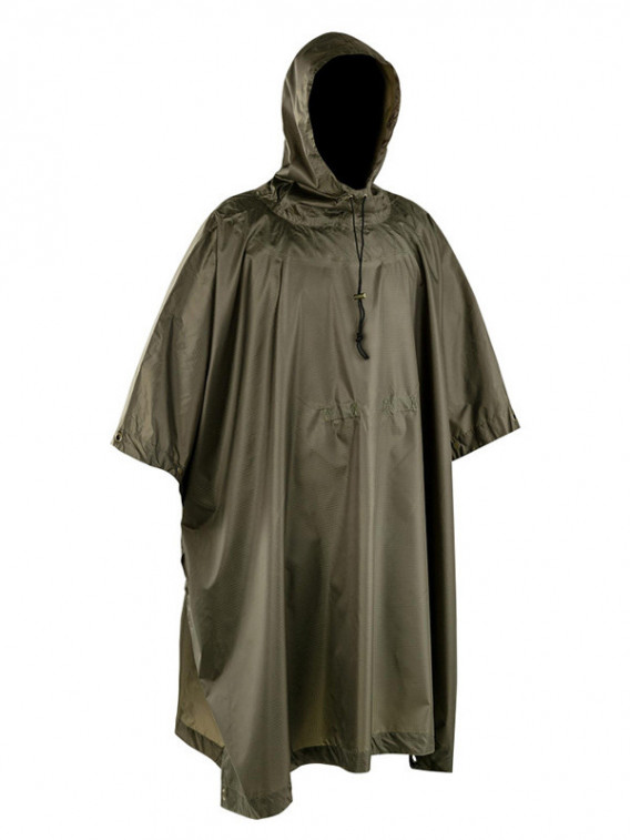 Poncho Militaire Ultra Light Ripstop Vert OD