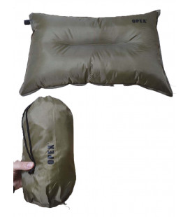 Coussin gonflable vert 40 x 30 cm