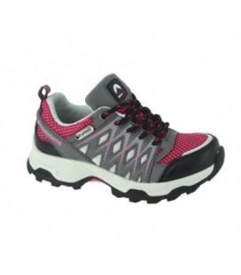 Chaussures rando synthé et nylon WOODY Gris / Rose