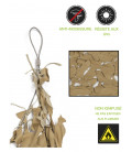 Filet camouflage Beige cable acier 4 x 4 m