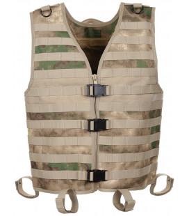 "Gilet tactique ""Molle light"", HDT camou vert, syst. mod."