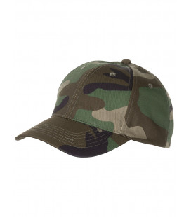 Casquette militaire US camouflage woodland Taille réglable