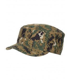 Casquette camouflage Digital Woodland US BDU Ripstop militaire