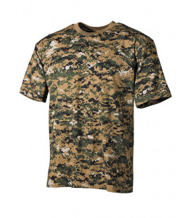 Tee-shirt camouflage Digital Wood US militaire - Surplus militaire