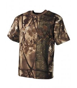 T-shirt camouflage Forêt marron
