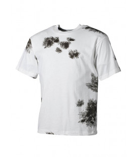 T-shirt camouflage Neige militaire