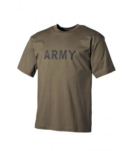 "T-shirt kaki inscription ""Army"""