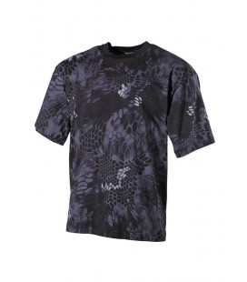 T-shirt camouflage Snake Noir militaire
