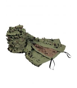 Filet camo corde kaki marron 3 x 3m