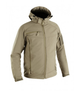 Veste technique militaire en Softshell couleur sable