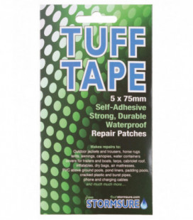 5 Patchs ronds transparents 75 mm Tuff Tape