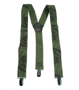 Bretelles clip camouflage woodland