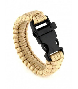 Bracelet de survie T.O.E. Coyote Tan - Surplus militaire