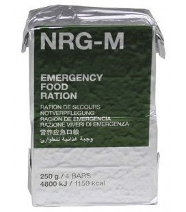 Rations de survie NRG-M 4 barres