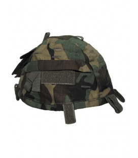 Couvre casque Camouflage woodland type militaire