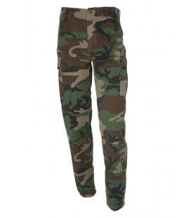 Pantalon militaire ripstop camouflage Woodland homme