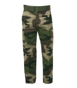 Pantalon militaire camouflage F1 grand froid, doublure polaire homme