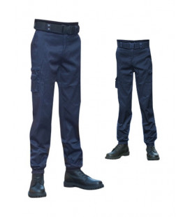 Pantalon multi-poches intervention bleu coupe fit (slim)