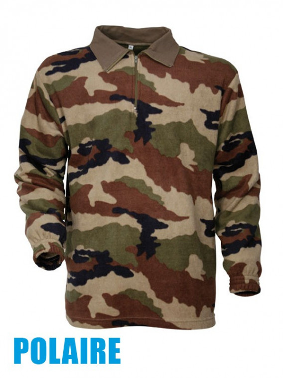 Pull-Chemise militaire F1 Polaire Camouflage