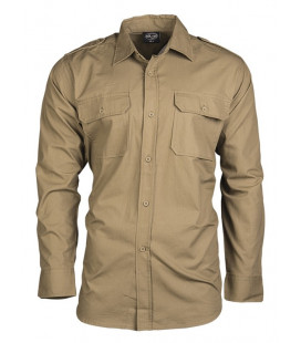Chemise Militaire type Pilote Ripstop Coyote