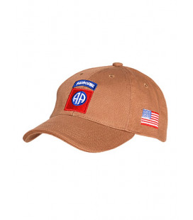 Casquette militaire Baseball 82Nd Airborne Beige