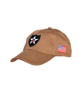 Casquette militaire Baseball 2nd Infantery Beige