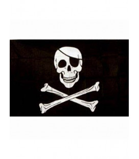 Drapeau Pirate Jolly Rogers Noir
