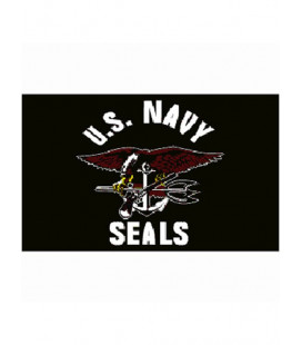 Drapeau US Navy Seals noir