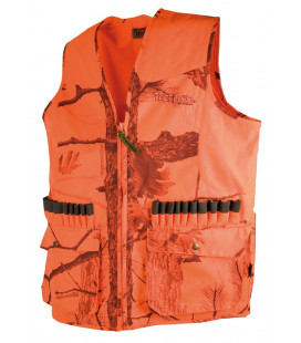 Gilet anti-ronce Somlys camouflage orange 600D Chasse