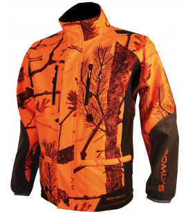 441N - Veste Softshell camouflage orange - Surplus militaire