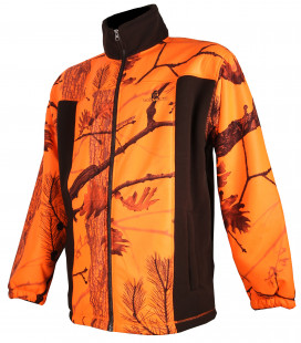 485 - Blouson polaire marron et camouflage orange - Surplus militaire