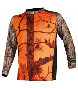 034 - Tee shirt ML camo orange - Surplus militaire