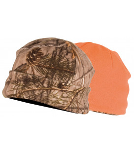2466 - Bonnet polaire réversible camouflage 3DX/orange - Surplus militaire