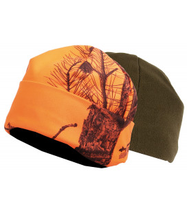 2467 - Bonnet polaire réversible camouflage orange/vert - Surplus militaire