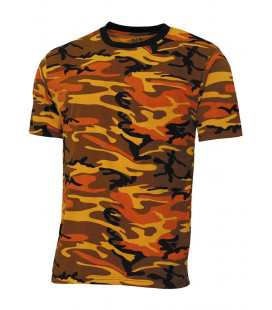 Tee-shirt US Streetstyle Cam Orange - Surplus militaire
