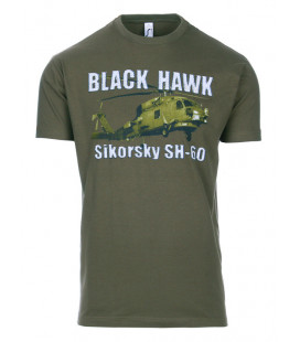 Tee-shirt Black Hawk SIKORSKY SH-60 Kaki - Surplus militaire
