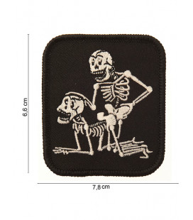 Patch Ecusson à coudre TWO SKELETON