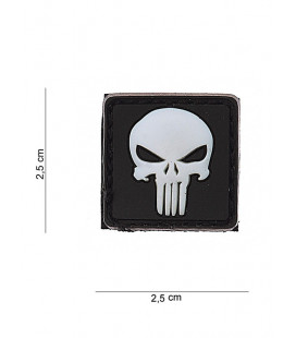 Patch Ecusson PVC PUNISHER Noir - Surplus militaire