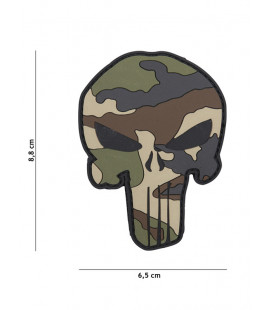 Patch 3D PVC Punisher Camouflage CE - Surplus militaire
