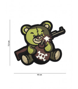 Patch 3D PVC Terror Teddy Vert - Surplus militaire