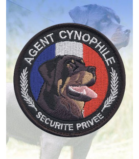 "Ecusson rond ""Agent Cynophile-Rottweiler"" - Surplus militaire"