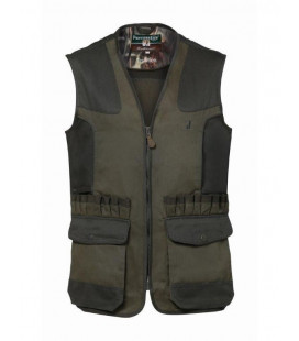 Gilet Chasse Percussion Tradition Broderie Sanglier