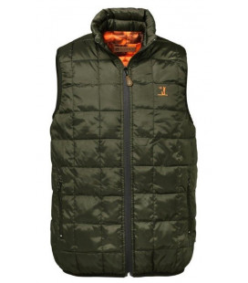 Gilet Chasse Percussion Warm Reversible Kaki / Ghostcamo