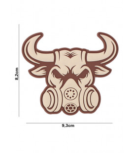 Patch 3D PVC Gassmask Bull Sable - Surplus militaire