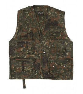 Gilet Multipoches BW Camouflage Flecktarn