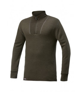 Sweat Woolpower Zip TURTLENECK 200 Vert - Surplus militaire